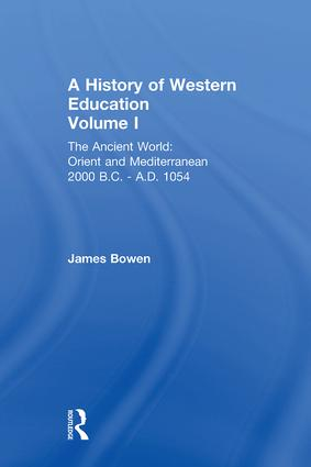 Hist West Educ:Ancient World V 1 book cover