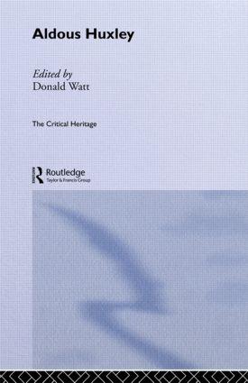Aldous Huxley (Paperback) book cover