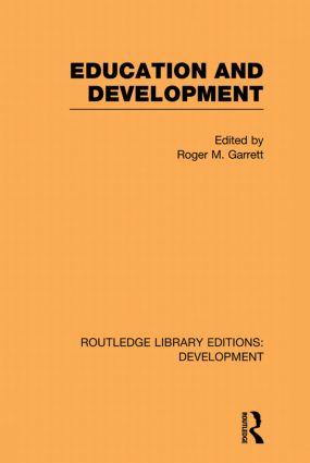 Education and Development: 1st Edition (Paperback) book cover