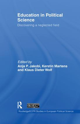 Education in Political Science: Discovering a neglected field (Paperback) book cover