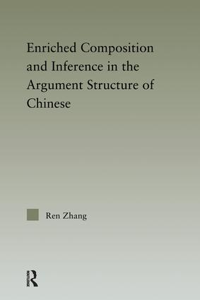 Enriched Composition and Inference in the Argument Structure of Chinese (Paperback) book cover