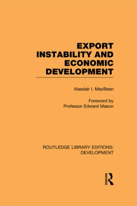 Export Instability and Economic Development (Paperback) book cover