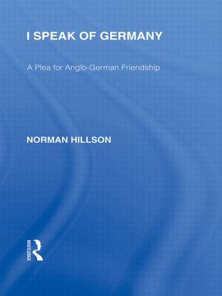 I Speak of Germany (RLE Responding to Fascism)