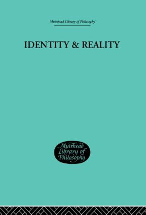 Identity & Reality: 1st Edition (Paperback) book cover
