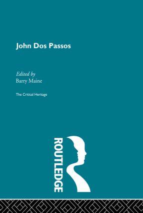 John Dos Passos: 1st Edition (Paperback) book cover