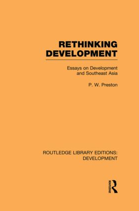 Rethinking Development: Essays on Development and Southeast Asia (Paperback) book cover