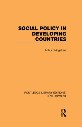 Social Policy in Developing Countries: 1st Edition (Paperback) book cover