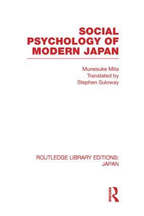 Social Psychology of Modern Japan book cover