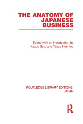 The Anatomy of Japanese Business (Paperback) book cover