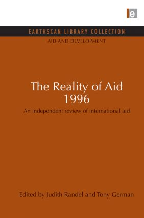 The Reality of Aid 1996: An independent review of international aid (Paperback) book cover