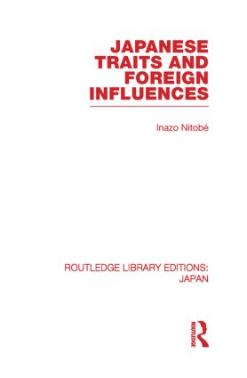 Japanese Traits and Foreign Influences (Paperback) book cover