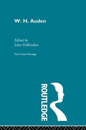 W.H. Auden (Paperback) book cover