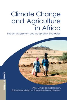 Climate Change and Agriculture in Africa: Impact Assessment and Adaptation Strategies (Paperback) book cover