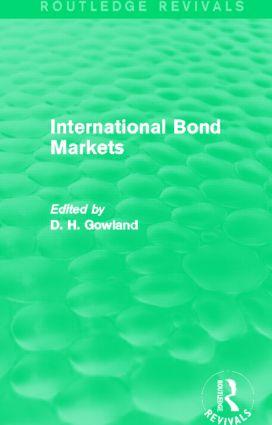 International Bond Markets (Routledge Revivals) (Hardback) book cover