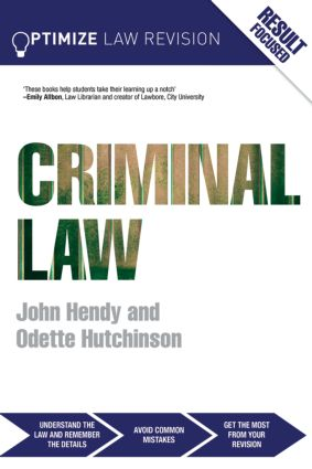 Optimize Criminal Law (Paperback) book cover