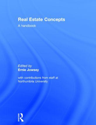 Real Estate Concepts: A Handbook, 1st Edition (Hardback) book cover