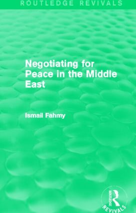 Negotiating for Peace in the Middle East (Routledge Revivals): 1st Edition (Paperback) book cover