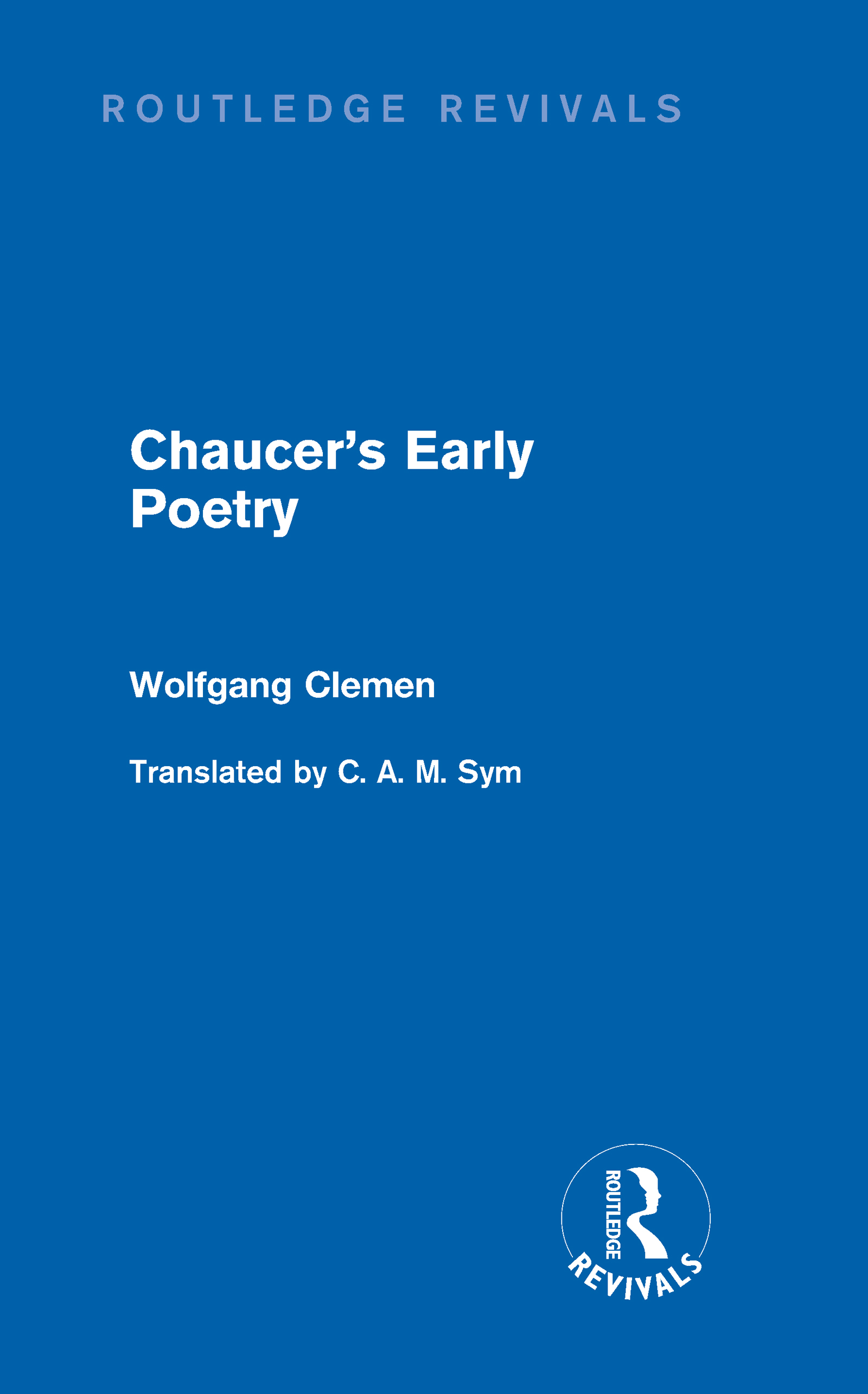 Chaucer's Early Poetry (Routledge Revivals) (Hardback) book cover