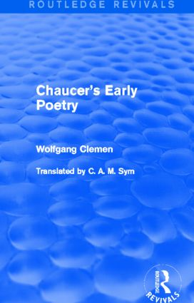 Chaucer's Early Poetry (Routledge Revivals): 1st Edition (Paperback) book cover