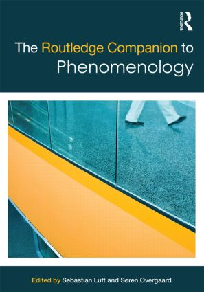 The Routledge Companion to Phenomenology: 1st Edition (Paperback) book cover