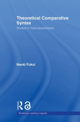 Theoretical Comparative Syntax: Studies in Macroparameters (Hardback) book cover