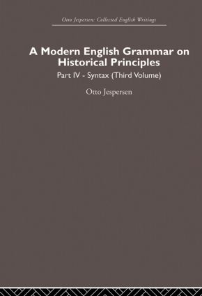 A Modern English Grammar on Historical Principles: Volume 4. Syntax (third volume) (Paperback) book cover