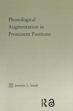 Phonological Augmentation in Prominent Positions (Paperback) book cover