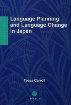 Language Planning and Language Change in Japan
