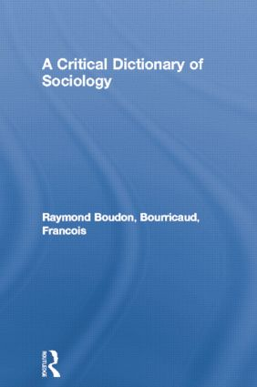 A Critical Dictionary of Sociology