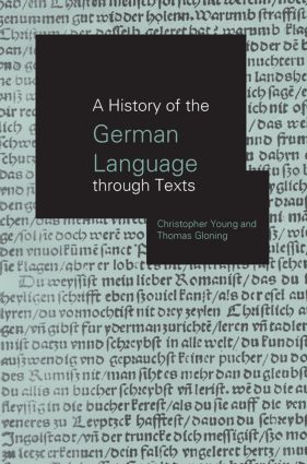 A History of the German Language Through Texts (Paperback) book cover