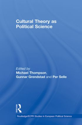 Cultural Theory as Political Science book cover