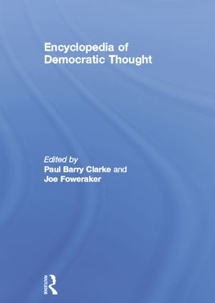 Encyclopedia of Democratic Thought: 1st Edition (Paperback) book cover