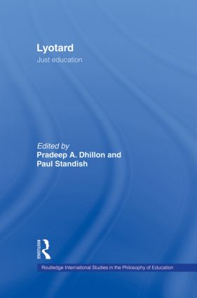 Lyotard: Just Education (Hardback) book cover