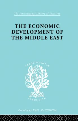 The Economic Development of the Middle East: 1st Edition (Paperback) book cover