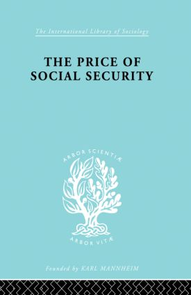 Price Socl Security Ils 187: 1st Edition (Paperback) book cover