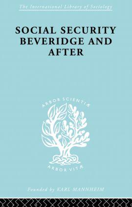 Social Sec:Beveridge Ils 191: 1st Edition (Paperback) book cover