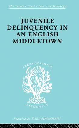Juvenile Delinquency in an English Middle Town: 1st Edition (Paperback) book cover