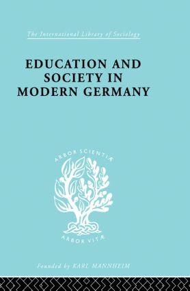 Education & Society in Modern Germany