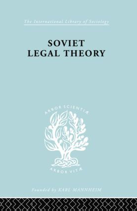 Soviet Legal Theory Ils 273 book cover