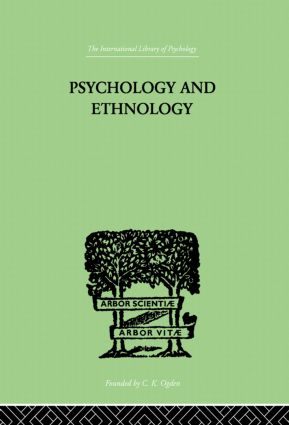 Psychology and Ethnology: 1st Edition (Paperback) book cover