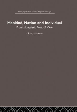 Mankind, Nation and Individual (Paperback) book cover