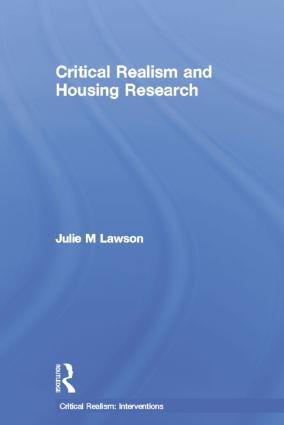 Critical Realism and Housing Research (Paperback) book cover