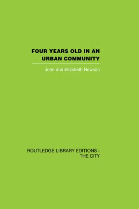 Four years Old in an Urban Community (Paperback) book cover