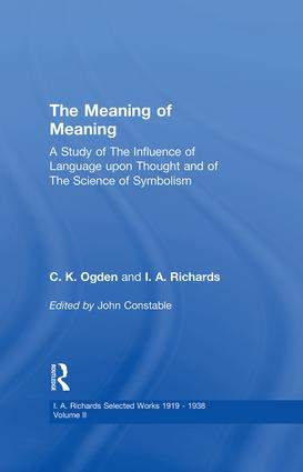 Meaning Of Meaning V 2: 1st Edition (Paperback) book cover