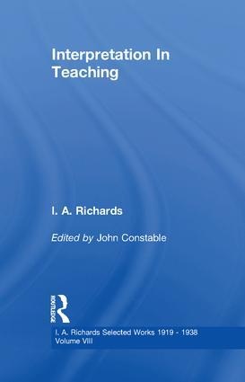 Interpretation In Teaching V 8: 1st Edition (Paperback) book cover