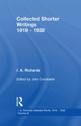 Collected Shorter Writings V9: 1st Edition (Paperback) book cover