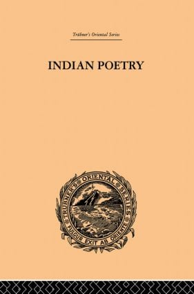 Indian Poetry: 1st Edition (Paperback) book cover