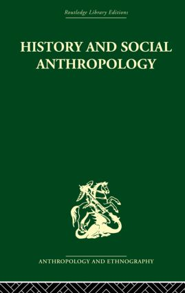 History and Social Anthropology (Paperback) book cover