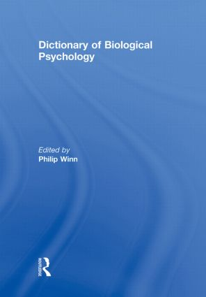 Dictionary of Biological Psychology (Paperback) book cover