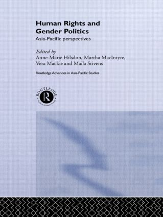 Human Rights and Gender Politics: Asia-Pacific Perspectives (Hardback) book cover